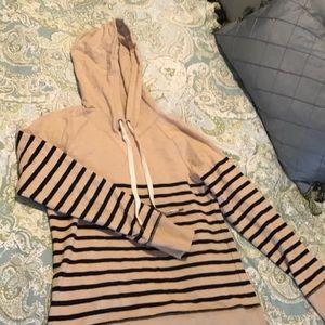 J. Crew striped hoodie